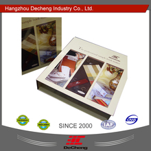 Classical fabric sample binder folder with cheap price