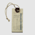 Customize fashion good quality waterproof canvas hang tags for jeans