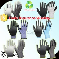 SRSAFETY 18G protective gloves cutting glass/cut work gloves/cut proof gloves
