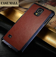 2015 New arrival Crazy Horse Brown leather Case For Samsung Galaxy Note 4 ,For Galaxy Note 4 Back Leather Case,For Note 4 cases