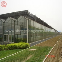Agriculture Hollow Tempered Glass Green House