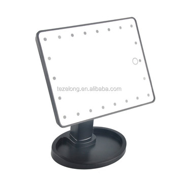 Desktop touch screen makeup mirror with light stepless dimming brightness mirror for darkness makeup