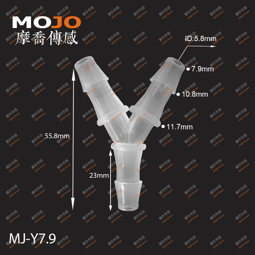 MJ-Y7.9 Three way Y type ID for 8mm water pipe <strong>fittings</strong>