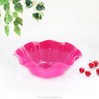 HMT8801 foldable basket plastic fruit dishes for drawing room