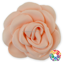 Wholesale Satin Ribbon Wedding Decoration Ribbon Flowers Artificial Handmade Hair Rose Flower For Christmas Floral Decorations