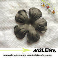 wrought iron ornamental flowers forged cast steel leaves