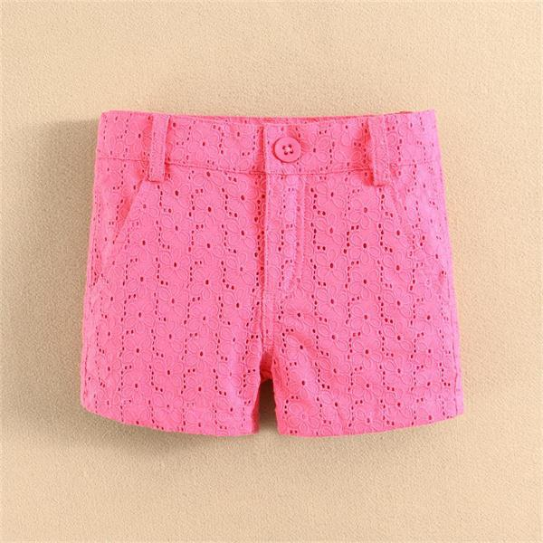 Latest High Quality mom and bab Branded Girls Shorts Woven Design