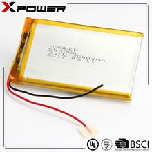 Lithium ion polymer battery 2500mAh 3.7V lipo battery with PCM PCB