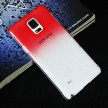 Best selling products gradient color cell phone cover with 3d crystal clear drops case for galaxy note 4 wholesale alibaba
