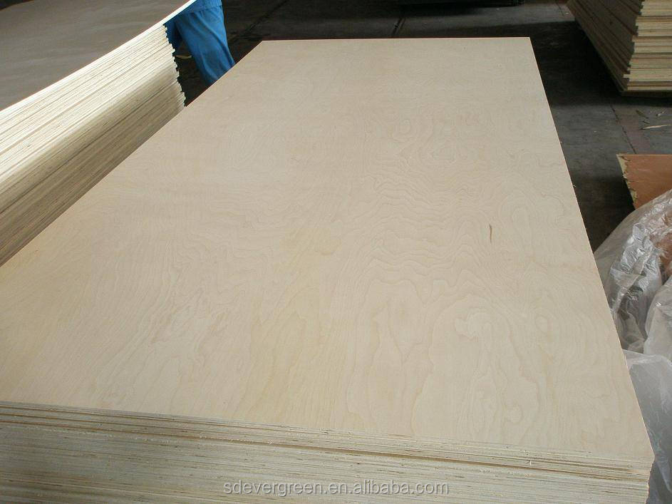 linyi factory4x8 feet 10 mm birch plywood with low price and good quality