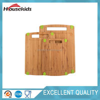 3 Piece Triple-Ply Warp Resistant All Natural Bamboo Cutting Board with Juice Groove