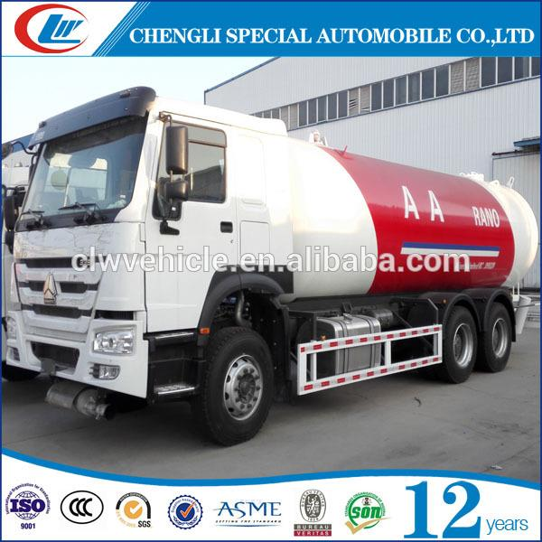 New Condition 10T LPG Gas Tanker Truck 25CBM LPG Transport Truck For Nigeria