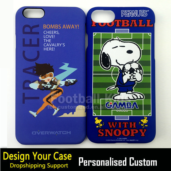 High quality phone case for iphone 6 case cover cartoon,water transfer snoopy dog for iphone 6 cartoon cover