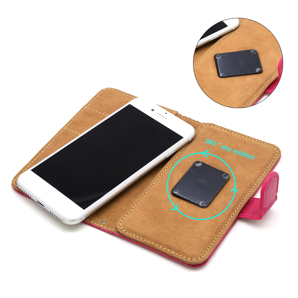 2 in1 detachable 360 degree PU flip leather wallet magnetic case for IPhone 7 4.7/5.5 inch