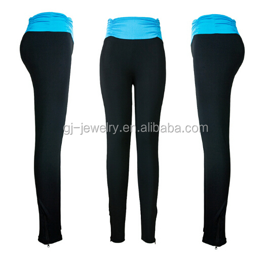 2015 New zipper young girls sexy legging