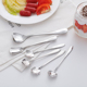 Heart Shape Smooth Line Metal Spoon for Drinking Tea Coffee Soup