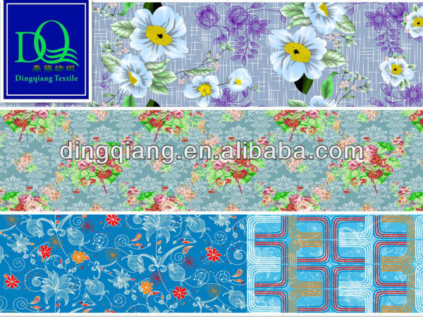 100% polyester microfiber textile fabric flowers designs wholesale in dubai market
