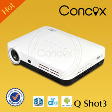 Concox micro laser projector Shot3 500g light weight projector for carrying Pico projector