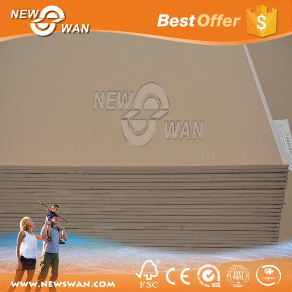 Standard size drywall sheetrock gypsum board