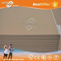 Standard size drywall sheetrock gypsum board
