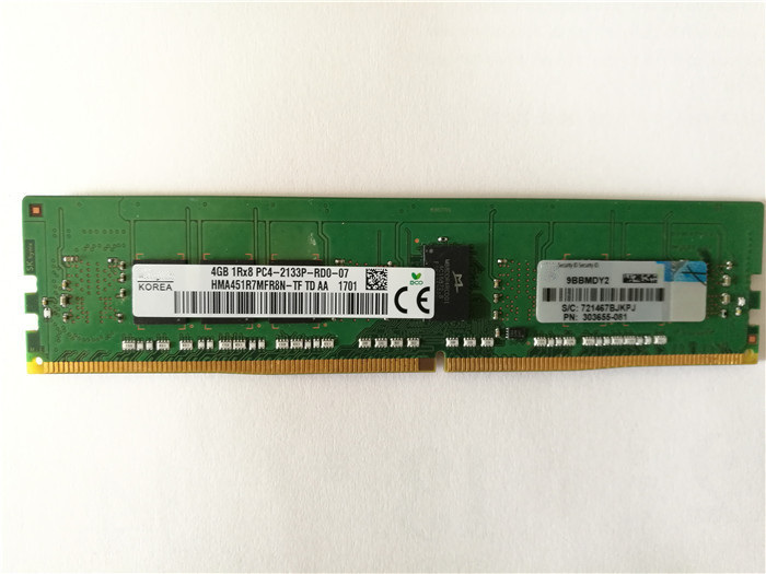 Best price 4GB DDR4 Server RAM for HP 803026-B21 single rankx8 CAS-15-15-15 AC