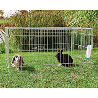 Commercial new metal iron Rabbit Cage Breeding With Plastic Tray For Sale