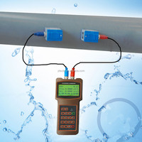 water flow meter ultrasonic portable,clamp on transducer