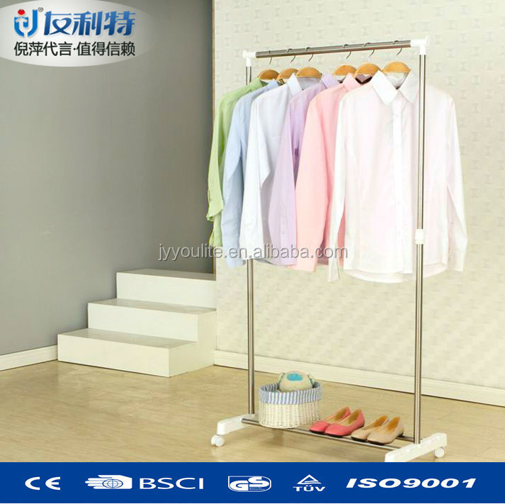 Stainless steel metal model fold cloth hanger stand