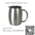 FDA Wholesale Stainless Double Wall Steel Beer/Coffee/Desk Smooth Mug, 15 oz,Stainless Steel Copper Plated Insulated Beer Mugs