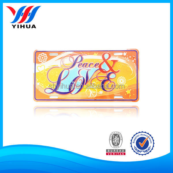 Colorful Decorative Embossed Aluminum Licence Plate