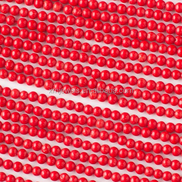 Wholesale red sea bamboo coral round natural red coral beads