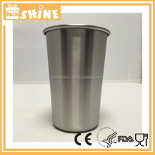 Stainless Steel Cups Ideal Beer Pints Iced Tea Tumblers Wine & Water Mugs Camping Cup Bar Set