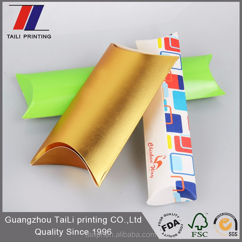 Custom pillow boxes,colorful paper pillow box wholesale