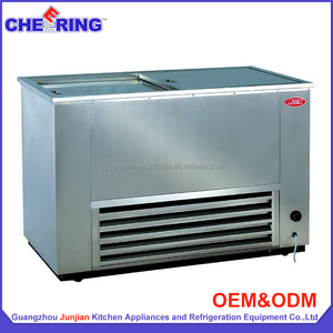 Refrigeration equipment full stainless steel 300 litre r134a chest freezer for supermarket