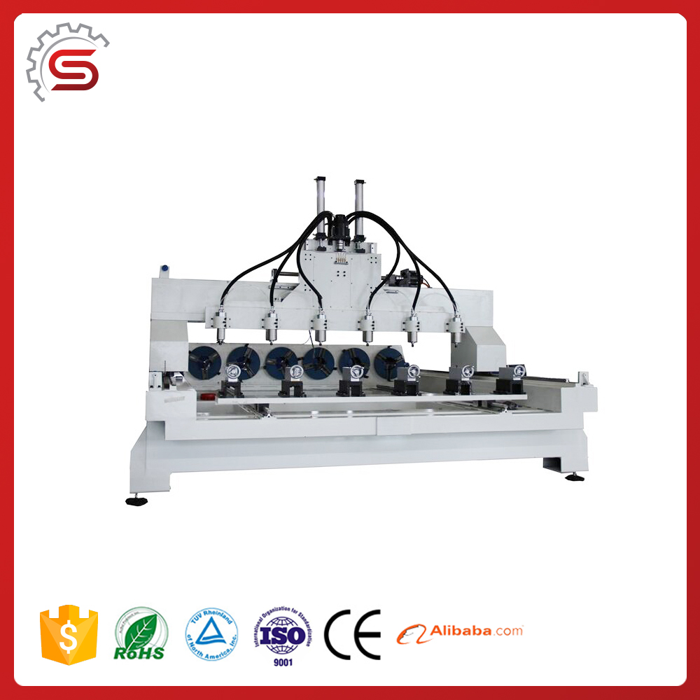 cnc cut router cnc engraver STR1325-4S 4 Axis cnc engraving machine