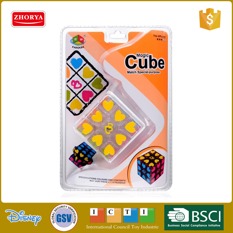3 * 3 * 3 folding custom transparent plastic magic puzzle cube