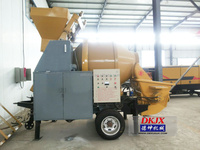 Small / Mini Concrete Mixer Machine With a Hoist And a Ladder