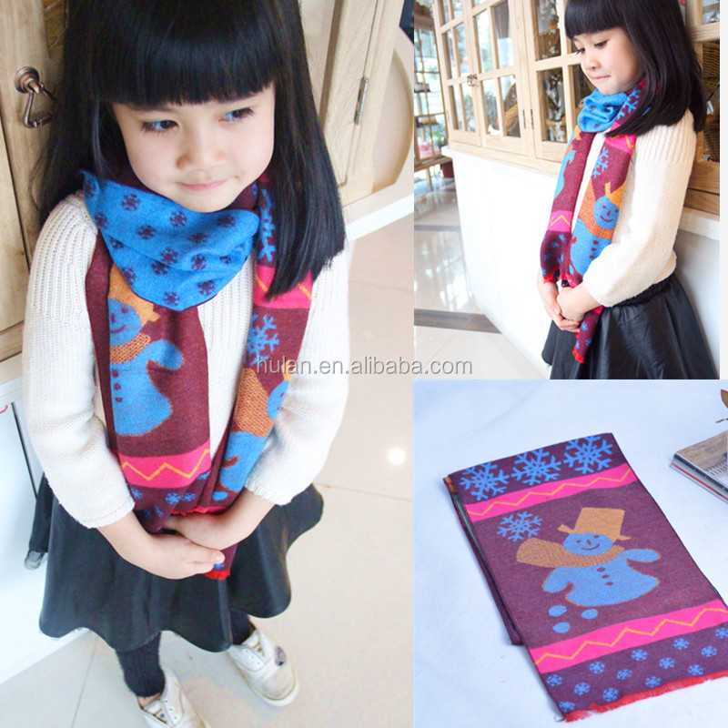 promotion christmas gift kid's scarf