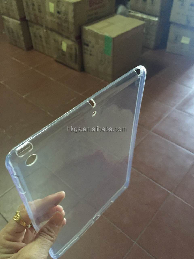 Full Clear Transparent Soft TPU Back Case Cover For Ipad 2017 9.7 inch