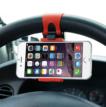 car steering wheel phone holder CONVENIENT Car steering wheel Mount Holder Rubber Band Universal Portable Steering Wheel Mobile