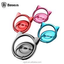 Baseus Mobile Phone Metal Ring Holder Bracket Cat Ear Finger Ring Car Holder