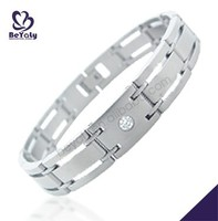 2016 high quality fashion jewelry stainless steel crystal bracelet bangle