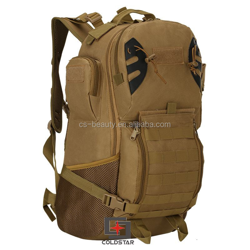 Drop Shipping Khaki Color <strong>Backpack</strong> New Wear-resistant 800D Oxford Cloth Military Tactics Mountaineering <strong>Backpack</strong>