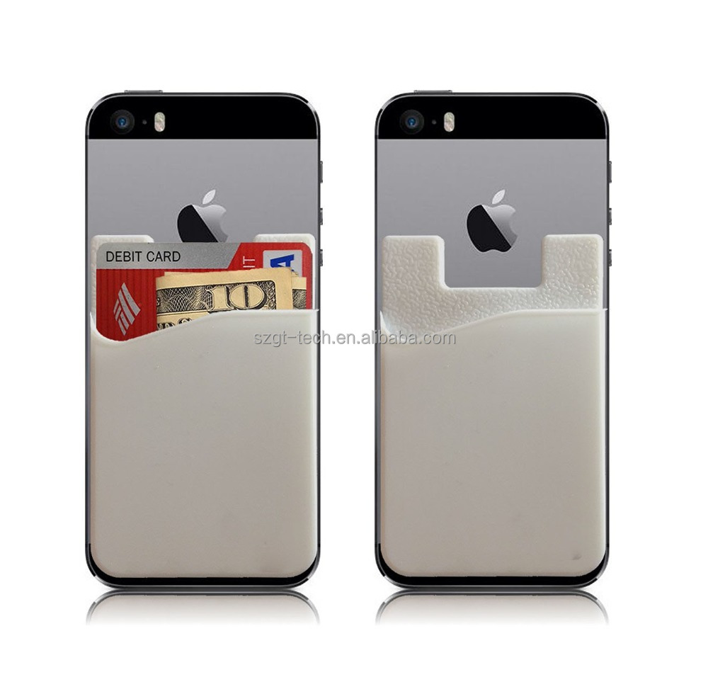 adhesive id card holder for iPhone 7, silicone credit card sleeve for iPhone 7 , card slots wallet for iPhone 7 plus