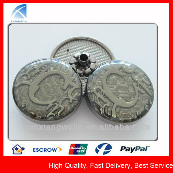 YX1823 Metal Button Snap for Leather