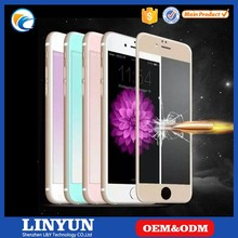 Factory Direct Selling Full Cover Tempered Glass Screen Protector for iPhone 6 /6s, 4 Colors Available