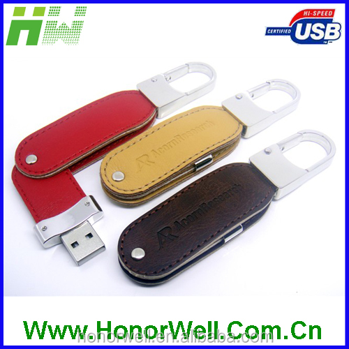 Special Gift USB Flash Driver USB2.0 Leather Case