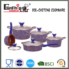 CE EU FDA LFGB SGS Certification and Eco-Friendly Feature quality DIe Cast Ceramic Cooking Pots