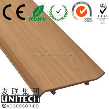 "W4"" L9.8' pvc waterproof baseboard, vinyl skirting ISO approval"