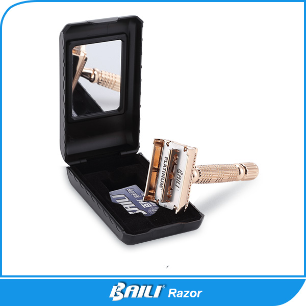 Butterfly open safety razor set